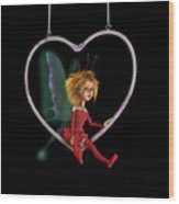 Laerinu The Love Fairy  Wood Print