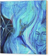 Laeyfe Becomes The Aurora Wood Print