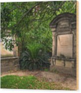 Lafayette Crypts 1 Wood Print