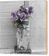 Lafayette No One Purple Roses Wood Print