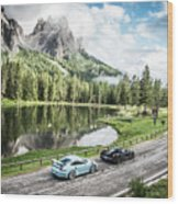 Laferrari And Gt3rs In The Dolomites Wood Print