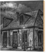 Lafittes Blacksmith Shop Bw Wood Print