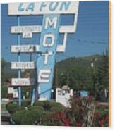 Lafon Motel Wood Print