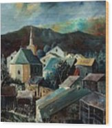Laforet Village  Wood Print