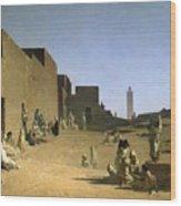 Laghouat In The Algerian Sahara Wood Print