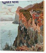 Lago Di Garda Lake Garda Vintage Poster Wood Print