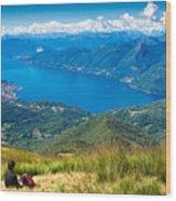 Lago Maggiore Italy Switzerland Wood Print