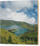 Lagoa Do Fogo Wood Print
