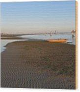 Lagoon At Low Tide Wood Print