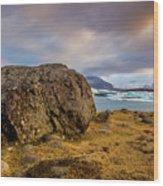 Lagoon Overlook Wood Print