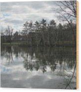 Lagoon Reflection 1 Wood Print
