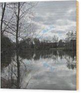 Lagoon Reflections 2 Wood Print