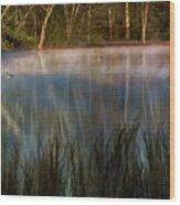Lagoon Sunrise Wood Print