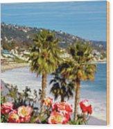 Laguna Beach Springtime Pano Wood Print
