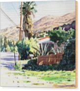 Laguna Canyon Palm Wood Print