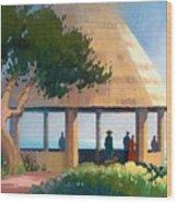 Laguna Gazebo Wood Print
