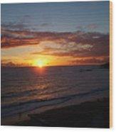 Laguna Golden Sunset Wood Print