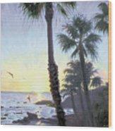 Laguna Sunset Wood Print
