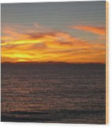 Laguna Sunset View Wood Print