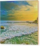 Laguna Tides Wood Print