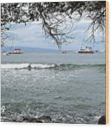 Lahaina Beach Wood Print