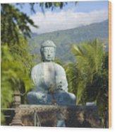 Lahaina Buddha At Jodo  Wood Print