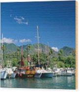Lahaina Harbor - Maui Wood Print