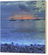Lahaina Harbor Wood Print by Kelly Wade