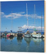 Lahaina In Blue Wood Print by Ron Dahlquist - Printscapes