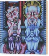 Laissez Faire Wood Print by Maryska Torresowa