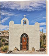 Lajitas Chapel 1 Wood Print