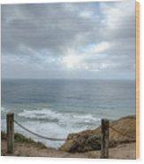 La Jolla Cliffs Wood Print