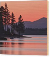 Lake Almanor Twilight Wood Print