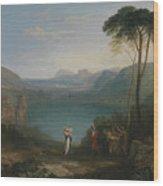 Lake Avernus - Aeneas And The Cumaean Sybil Wood Print