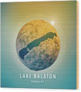 Lake Balaton 3d Little Planet 360-degree Sphere Panorama Wood Print