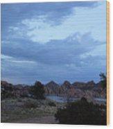Lake Before A Storm Wood Print