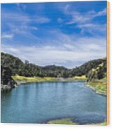 Lake Berressa Under Bridge Wood Print