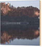 Lake Bled At Dawn Wood Print