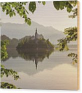 Lake Bled In The Morning Wood Print