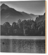 Lake Bled Rower - Slovenia Wood Print