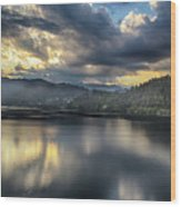 Lake Bled Sunset Wood Print
