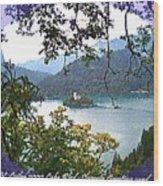 Lake Bled.slovenia.greeting Card Wood Print