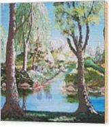 Lake Blue. Wood Print