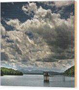 Lake Blue Ridge Wood Print