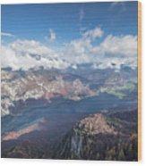 Lake Bohinj From Mount Vogel Wood Print