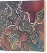Lake Bottom II Wood Print