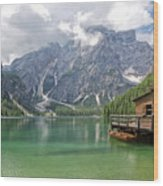 Lake Braies Wood Print