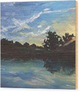 Lake Bridgeland Wood Print