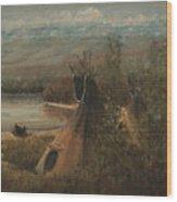 Lake Camp Wood Print
