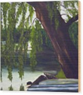 Lake Carmel Landscape Wood Print